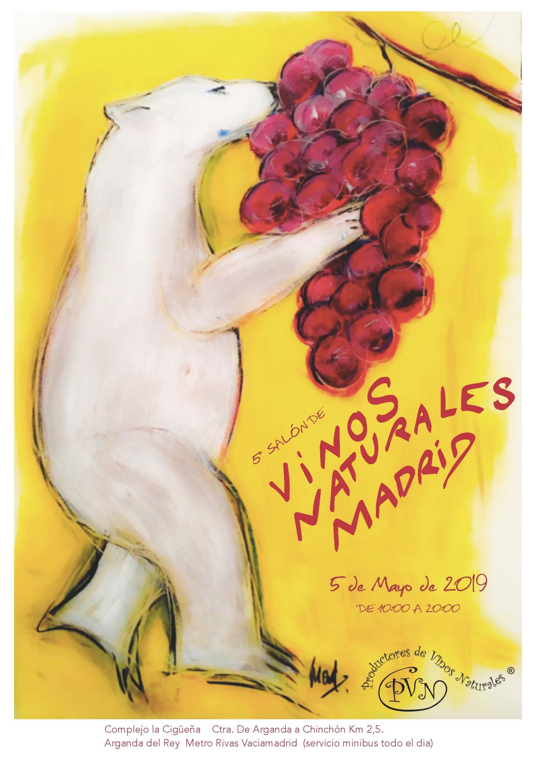 Cartel Salon Vinos Naturales Madrid 19